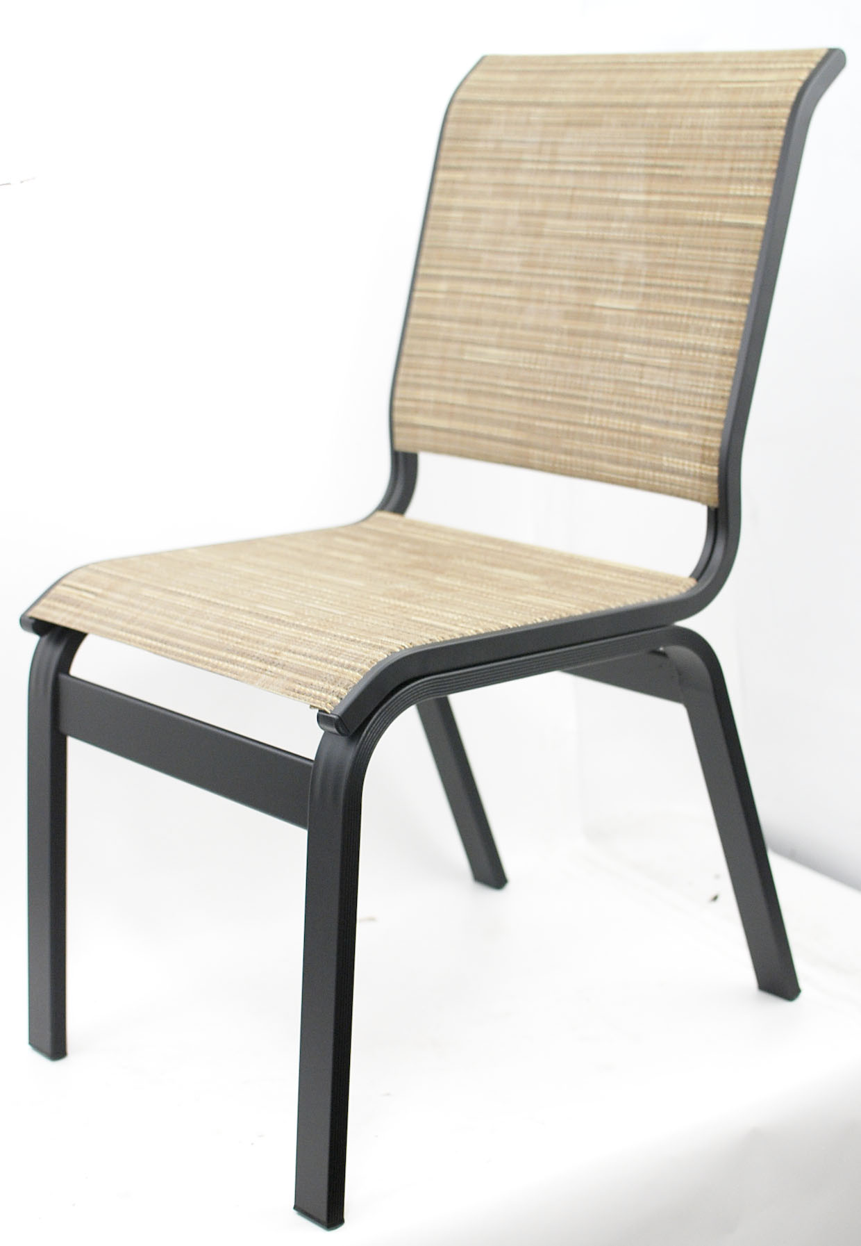Details About Telescope Casual Aruba Ii Sling Collection Dining Height Aluminum Armless Chair