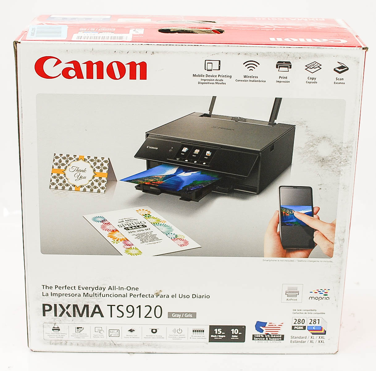 Details about Canon TS9120 Wireless All-in-1 Printer-Scanner-Copier,  Mobile-Tablet Print